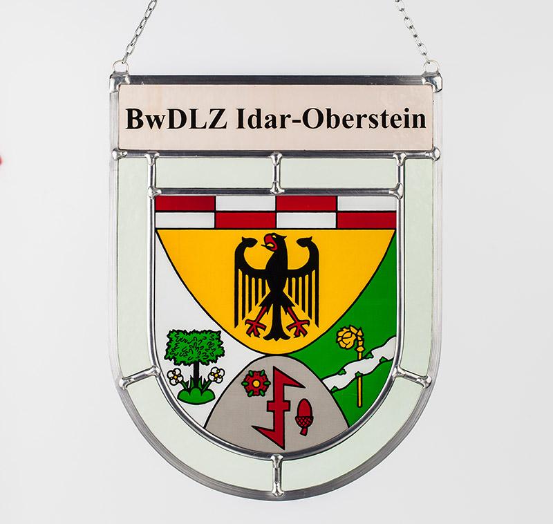 Sonderanfertigung: Glaswappen für das Bundeswehr Dienstleistungszentrum Idar-Oberstein
