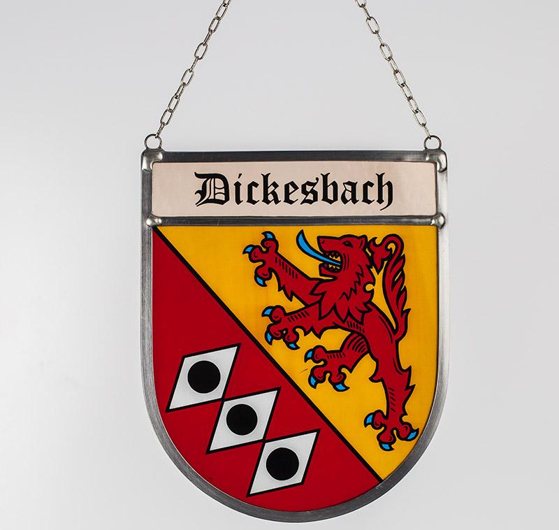 Gemeindewappen – Glaswappen für die Gemeinde Dickesbach