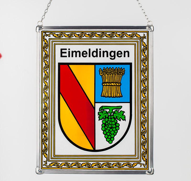 Gemeindewappen – Glaswappen für die Gemeinde Eimeldingen