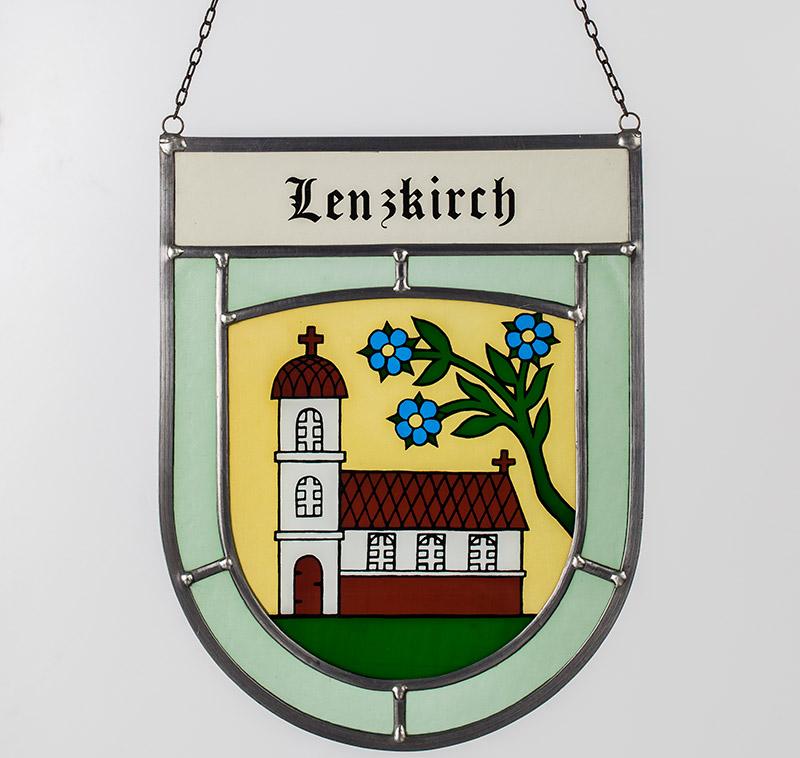 Gemeindewappen – Glaswappen für die Gemeinde Lenzkirch